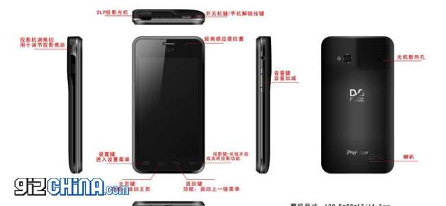chi kam projector smartphone china