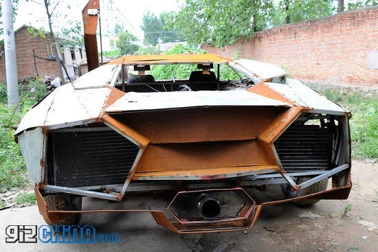 Chinese villager builds homemade Lamborghini to deliver fertilizer! - Gizchina.com