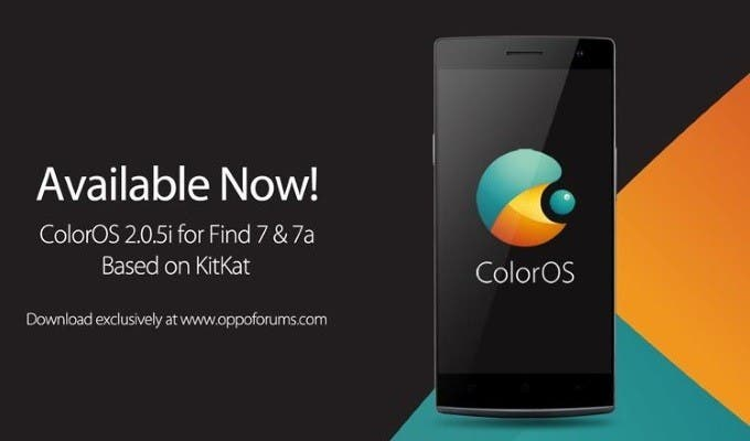 Oppo Find 7 and Find 7a users get ColorOS 2.0.5i update