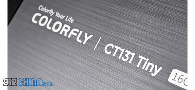 The Colorfly CT131 Tiny is a 13.3 inch tablet with quad-core CPU