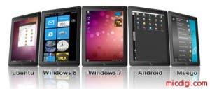 world thinnest tablet pc windows 7 windows 8 android meego linux ubuntu