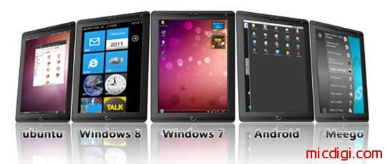 world thinnest tablet pc windows 7 windows 8 android meego linux ubuntu