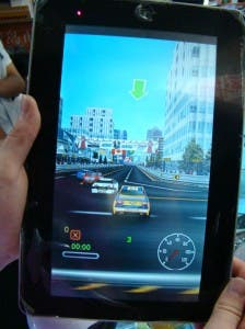 gaming on the epad android tablet