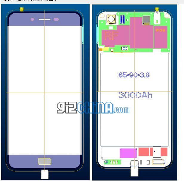 elephone frameless phone
