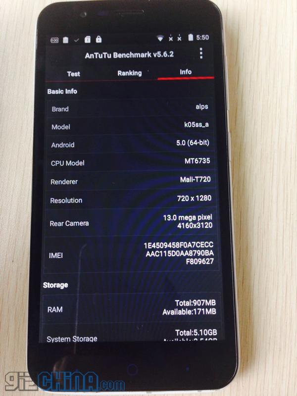Elephone P4000 MT6735