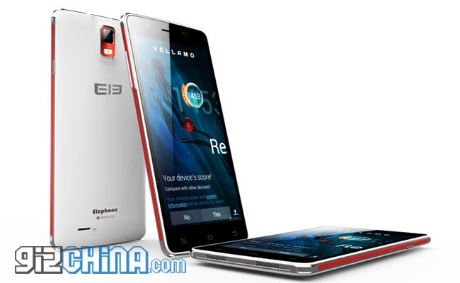 elephone p7 white and red