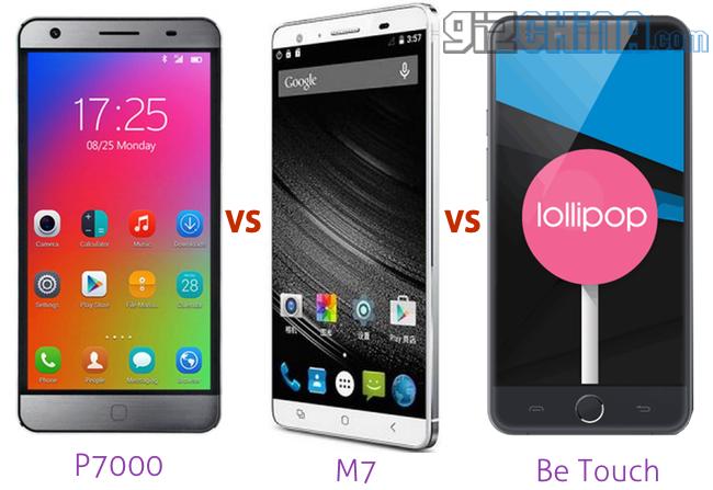 elephone p7000 vs mlais m7 vs be touch