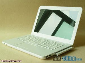 Knock-off white Macbook with multi-touch gesture support