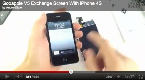 gooapple v5 iphone 4s screen GooApple V5 Screen Same As iPhone 4S?