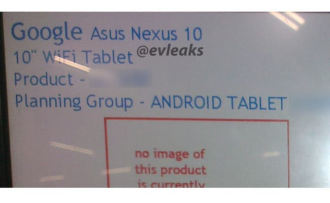 google asus nexus 10 tablet