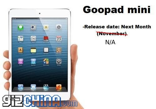 Still no GooPad Mini release date but official specs and distributors have been set!