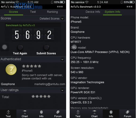 goophone i5 antutu GooPhone i5 review: The ultimate iPhone 5 clone