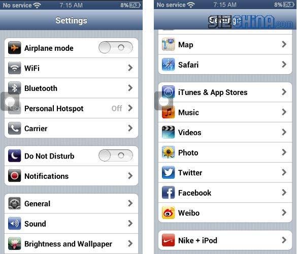 goophone i5 screenshots 3
