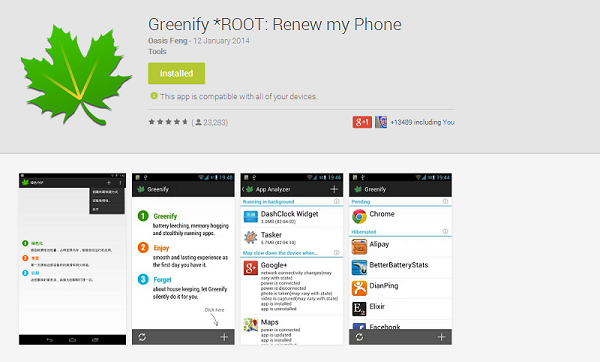 Popular battery-saving app Greenify now works on non-rooted devices!