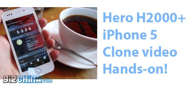 Hero H2000+ iPhone 5 clone hands on video!