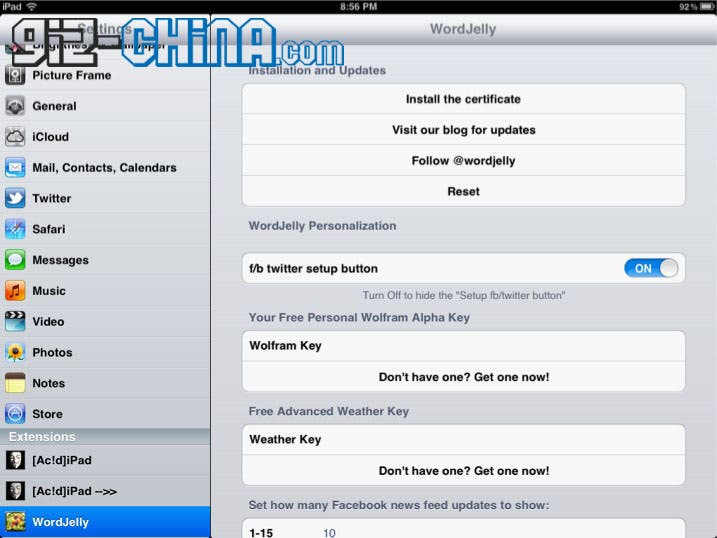 install siri on ipad 1 with wordjelly and ac!d
