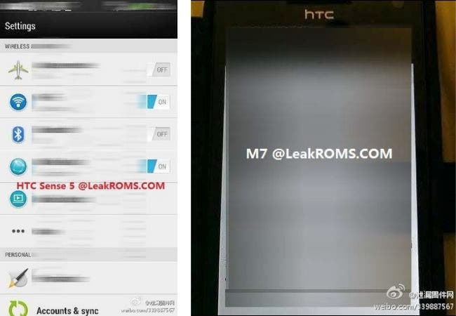 HTC M7 running Sense 5 spotted on Weibo