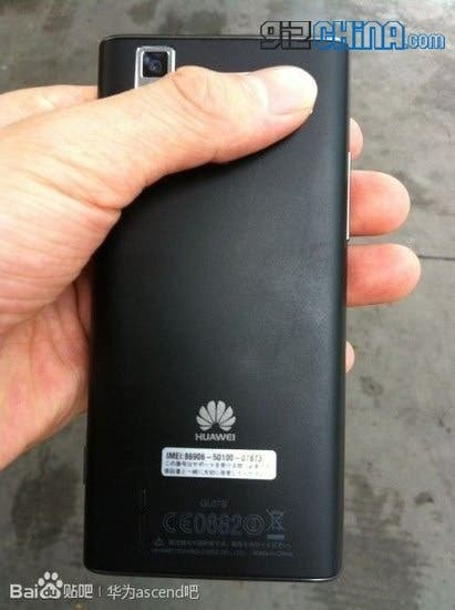 huawei ascend p2 leaked photos rear Huawei Ascend P2 Leaked photos and pricing!