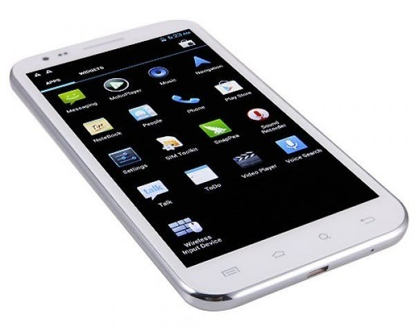 inew i2000 phablet white iNew I2000 comes with 5.8 inch 720 display and 5 mega pixel front camera