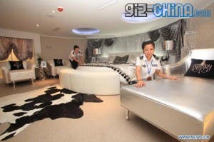 the interior of tianjin aircraft carrier hotel