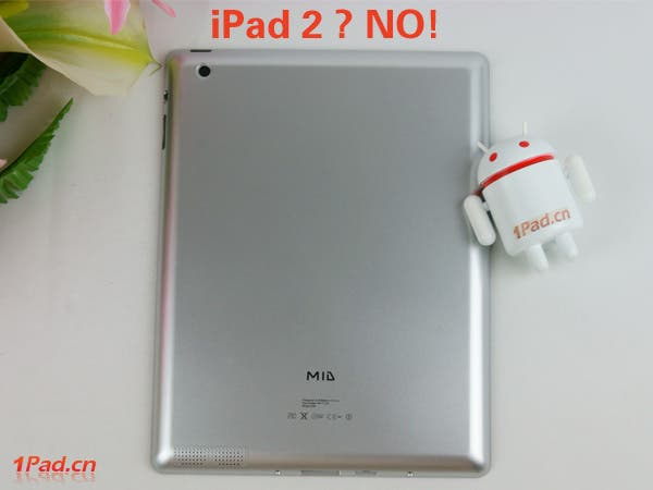 Rear of the iPad 2 clone gets a rear camera