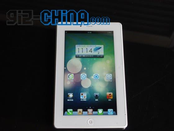white iPad mini clone