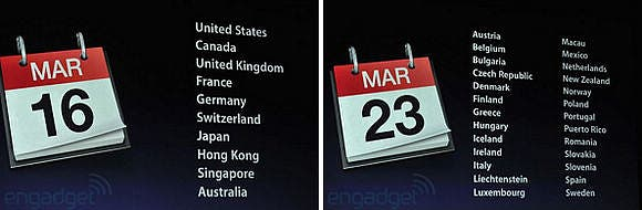 the release dates of the new iPad have been released but no news on China yet