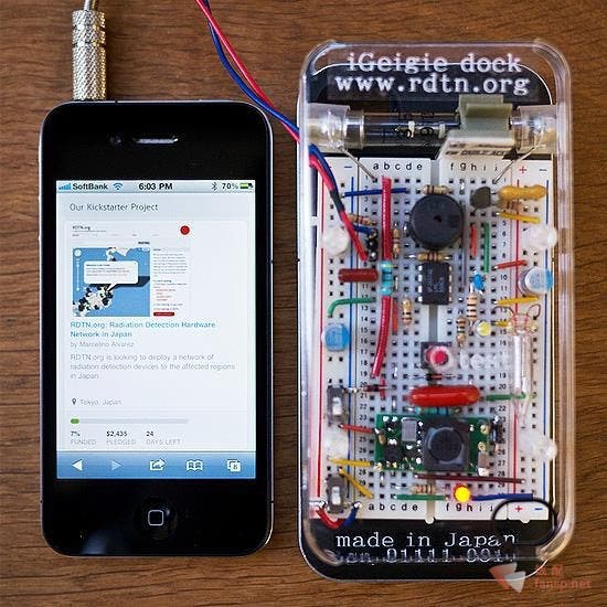 Japanese Dev Creates Plugin Iphone Geiger Counter