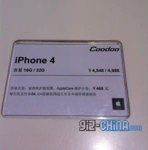 china iphone 4 price slash