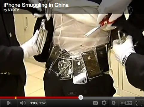 chinese iphone 4s smugglers strap iphones to their bodies