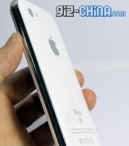 fake iphone 5 back white