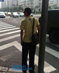 chinese man iphone shirt