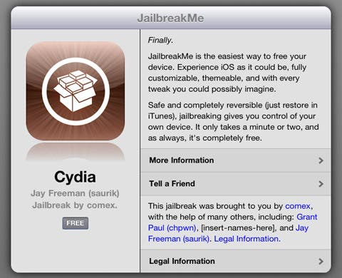 cydia on iPad 2 jailbreakme 3.0