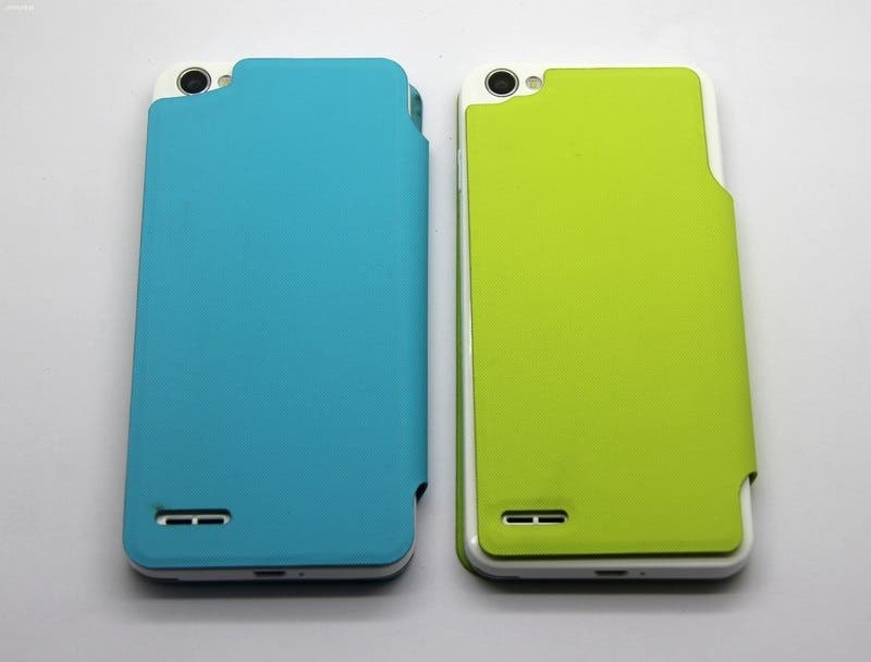 jiayu g4 flip covers green and blue JiaYu G4 flip covers available at launch