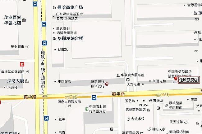 jiayu store map