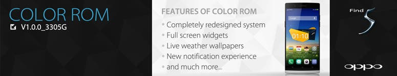 Oppo Launches International version of Color ROM for the Oppo Find 5