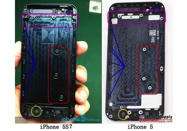 leaked iphone 5s components