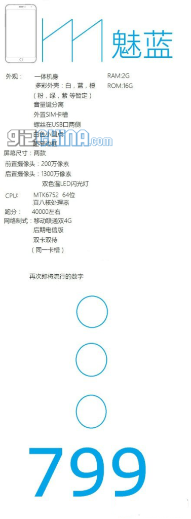 meizu meilan specifications