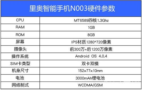 quad-core mt6589 neo n003 specification