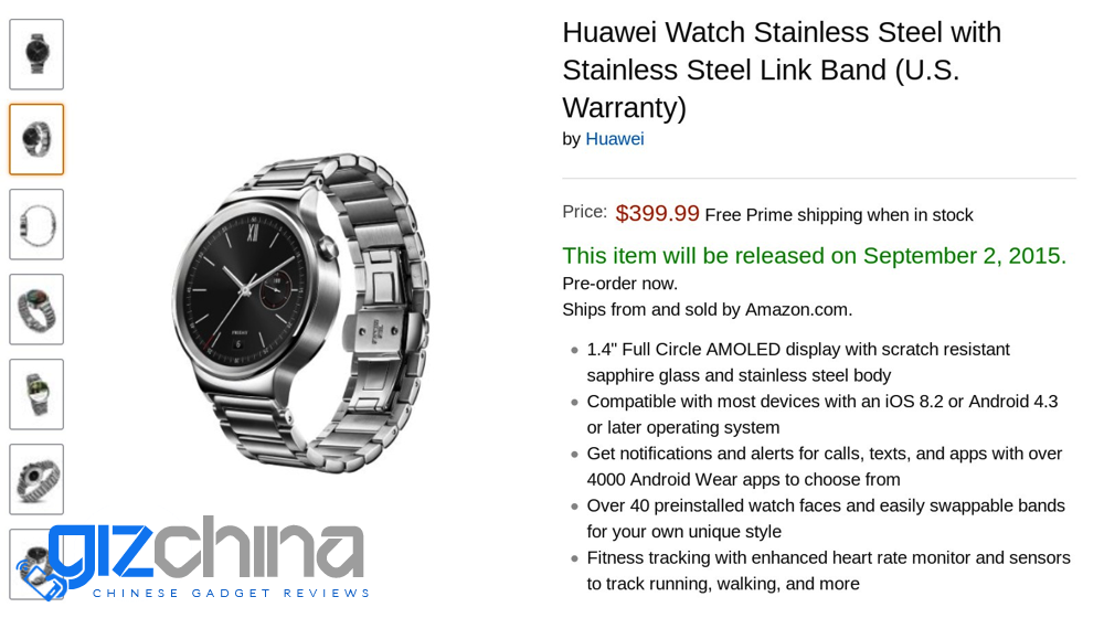 huawei watch ios
