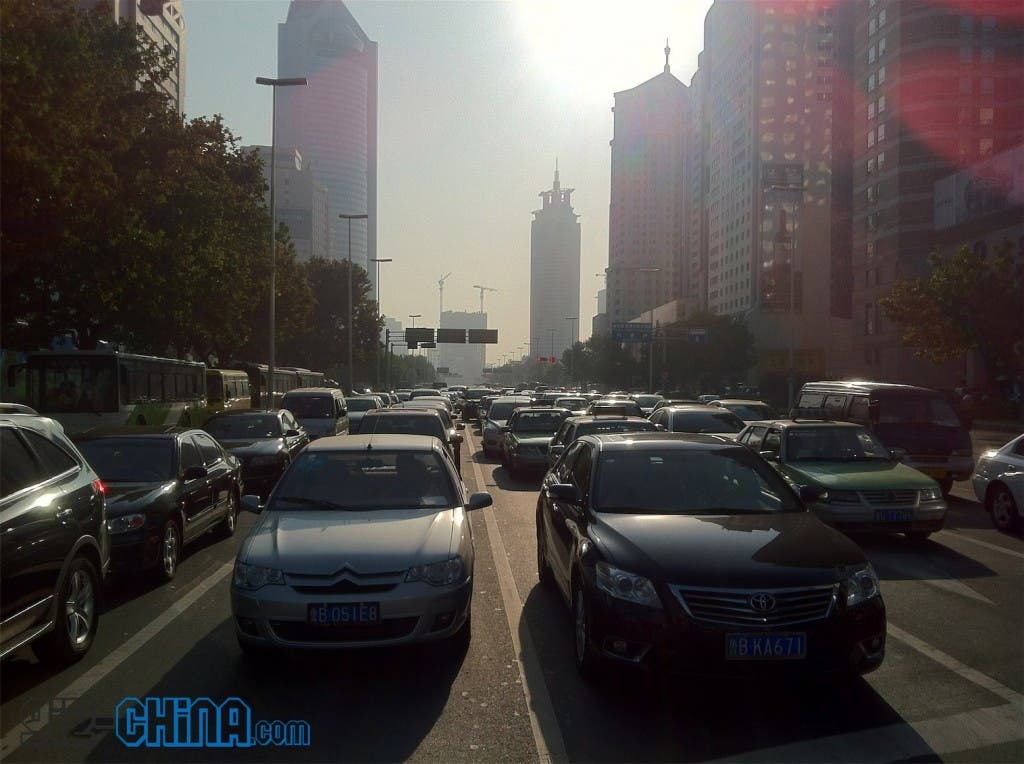 china no car day 2011 heavy traffic