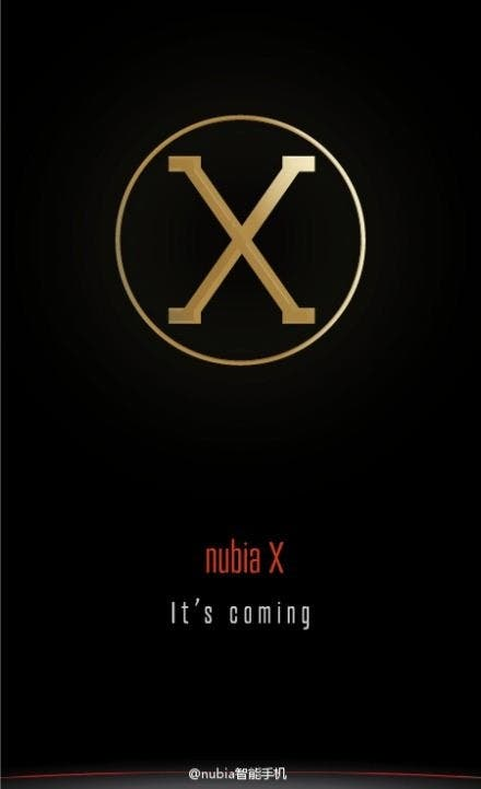nubia x 6 inch Nubia X leaked in spy photo