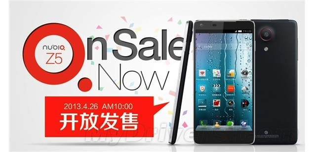 Nubia Z5 goes on limited open sale from 10am today