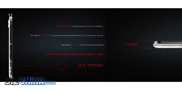nubia z5 worlds thinnest phablet