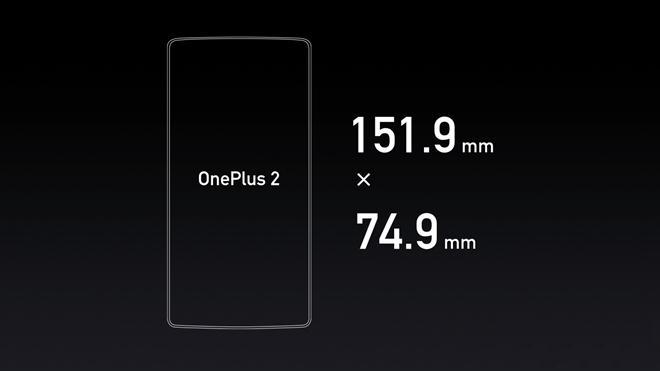 oneplus 2 size