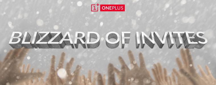 oneplus one blizzard of invites
