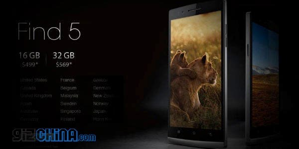 Oppo Find 5 32GB will cost more than ZTE Nubia Z5! But will be available internationally!