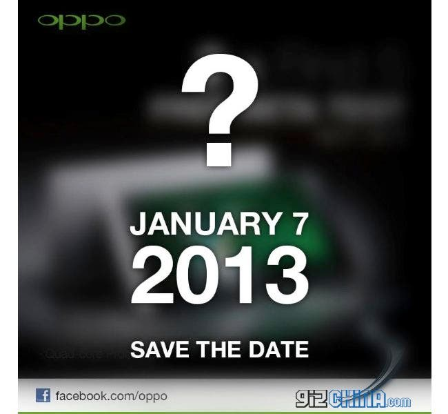 Oppo Find 5 going on sale 7th January?