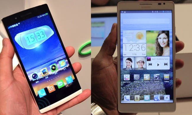 oppo find 5 vs huawei ascend mate