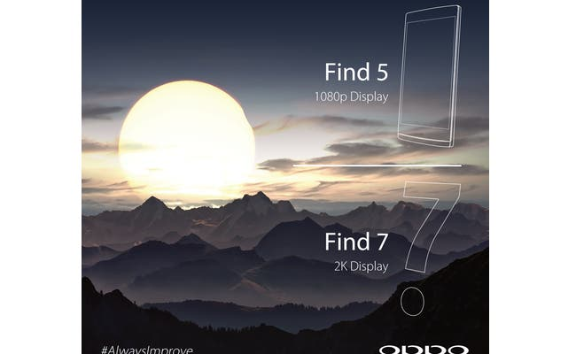 oppo find 7 2k display